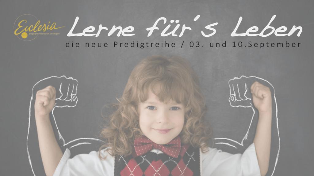 Lerne für´s Leben (2)