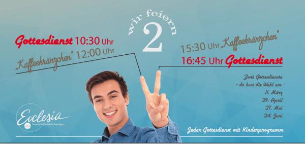 11. März | 2 Gottesdienste